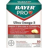 Bayer Pro Ultra Omega-3 Soft Gels, 50 Count (3 Pack)
