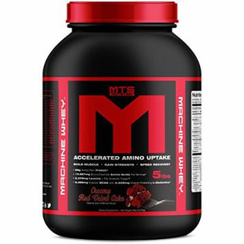 MTS Nutrition Machine Whey, Great Tasting Protein for Building Muscle, Red Velvet Cake, 5 Lbs (2270g)