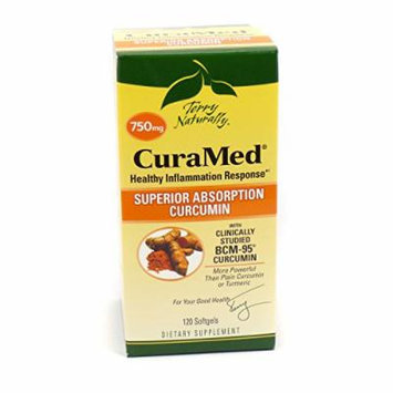Bundle - 2 Items: 1 Bottle of CuraMed 750mg By Terry Naturally - 240 Caps (2x120) and VDC Pill Box