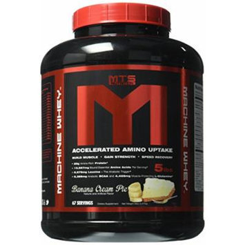 MTS Nutrition Machine Whey, Great Tasting Protein for Building Muscle, Banana Cream Pie, 5 Lbs (2270g)