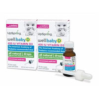 UpSpring Baby: Wellbaby D, Baby Vitamin D Drops, 2 Boxes with Easy to Use Dropper
