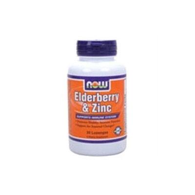 NOW Foods - Elderberry and Zinc - 30 Lozenges