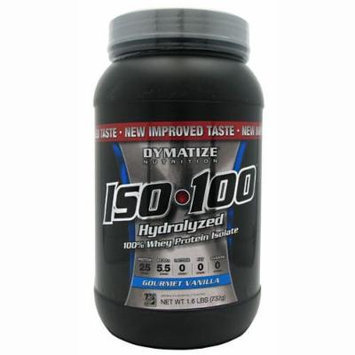 Dymatize Nutrition ISO 100 Whey Protein Powder, Gourmet Vanilla, 1.6 lbs