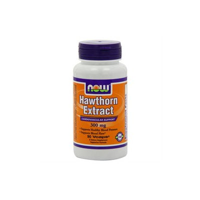 NOW Foods - Hawthorn Extract 300 mg. - 90 Vegetarian Capsules