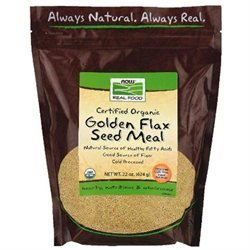 NOW Foods - Golden Flax Meal Organic - 18 oz.