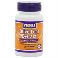 NOW Foods Olive Leaf Extract Extra Strength, Vegetarian Capsules, 50 ea