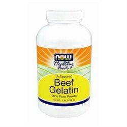 NOW Foods - Beef Gelatin Powder Unflavored - 1 lb.