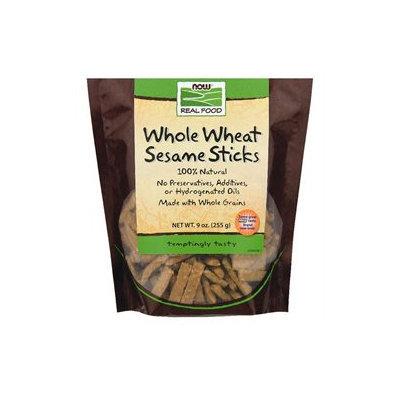 NOW Foods - Whole Wheat Sesame Sticks - 9 oz.