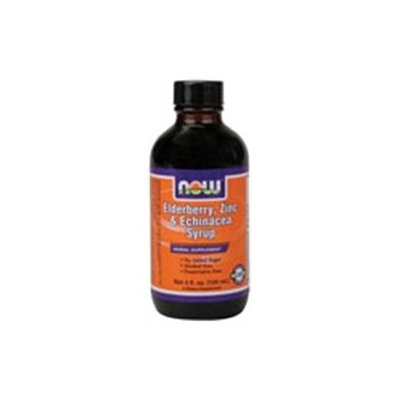 NOW Foods - Elderberry Zinc and Echinacea Syrup - 4 oz.