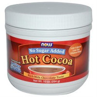 NOW Foods - Hot Cocoa Rich Milk Chocolate Taste No Sugar Added - 10 oz.