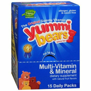 Hero Nutritionals Hero Nutritional Products Yummy Bear Multivitamin and Mineral 15/3 Pack