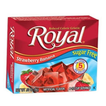 Royal Gelatin, Sugar Free, Strawberry Banana, 0.32-Ounce (Pack of 12)
