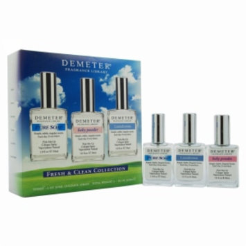 Demeter Fragrance Library Fresh & Clean Gift Set for Women, 3 Piece, 1 set