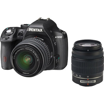 Pentax K-500 Digital SLR Camera with 18-55mm f-3.5-5.6 and 50-200mm f-4-5.6 Lens