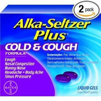Alka-Seltzer Plus Cold and Cough -- 10 Liquid Gel Capsules