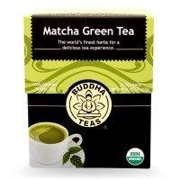 Buddha Teas Matcha Green 100 Percent Organic Herbal Tea 18 Bags Per Packet