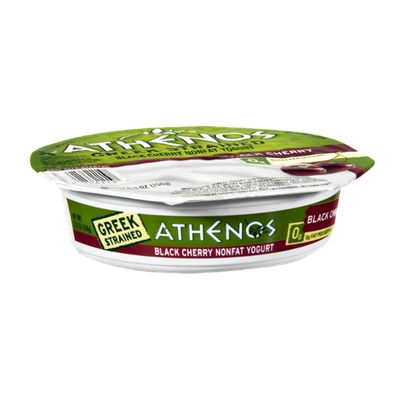 Athenos Greek Strained Black Cherry Nonfat Yogurt