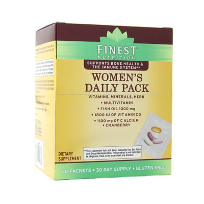 Finest Nutrition Multivitamin Womens Pouch Combo Pk