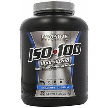 Dymatize Nutrition ISO 100 Whey Protein Powder, Gourmet Vanilla, 5 lbs