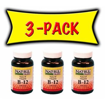 Nat-rul B-12 250mcg 100 Tablets - 3 PACK