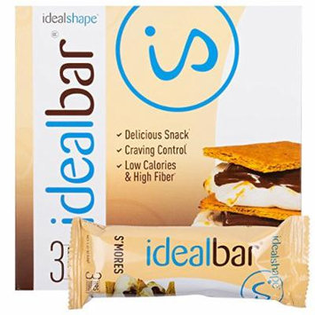 IdealBar, Meal Replacement Bars, Smores, w/ Hunger Blocker - 140 Calories, 8g Sugar, 11g Protein - 7 Bars