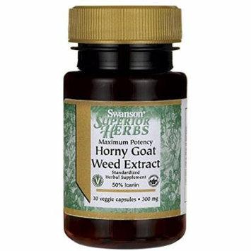 Swanson Maximum Potency Horny Goat Weed Extract 300 mg 30 Veg Caps