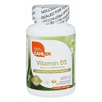 Zahler - Vitamin D3 Orange Flavor 1000 IU - 120 Chewable Tablets