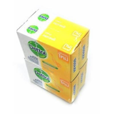 Soap Bar : Dettol Fresh Formula Hygienic Anti-bacterial Soap Body Wash (net wt 2.47 OZ.or 70g. x 4 pcs)