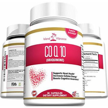 CoQ10 Ubiquinone High Absorption Supplement - 200mg Capsules - Potent Antioxidant Coenzyme Q10 Supports Healthy Heart and Cardiovascular System - Boost Cellular Energy Levels - 30 Gel Caps - Made in USA