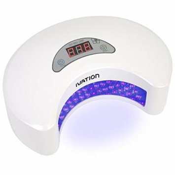 Ivation 20W LED Nail Polish Dryer / Lamp / Light for Curing, Upgraded with Digital Countdown Timer 30s-90s, SPA Equipment (White Color)