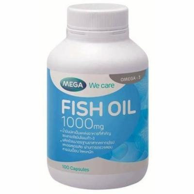 Mega we care Fish Oil 1000 mg 100 capsules.