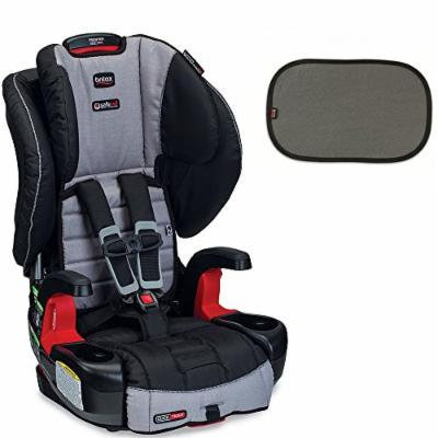 Britax Frontier G1.1 ClickTight Harness-2-Booster Car Seat w EZ-Cling Sun Shades, Black, 2 Count (Metro)