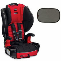 Britax Frontier G1.1 ClickTight Harness-2-Booster Car Seat w EZ-Cling Sun Shades, Black, 2 Count (Congo)