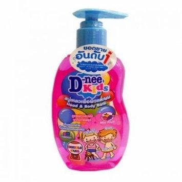 D-Nee Kids, Head & Body Bath, Bubble Gum, 200 ml