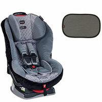 Britax Boulevard G4.1 Convertible Car Seat w EZ-Cling Sun Shades, Black, 2 Count (Silver Birch)