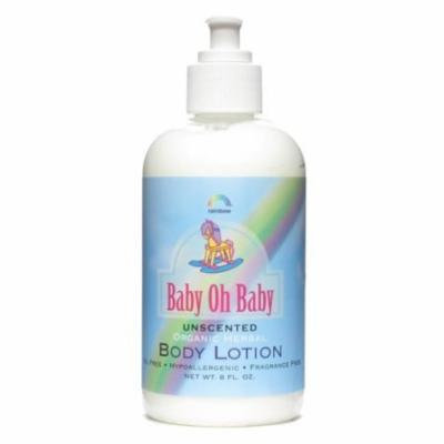 New - Rainbow Research Body Lotion - Organic Herbal - Baby - Unscented - 8 fl oz