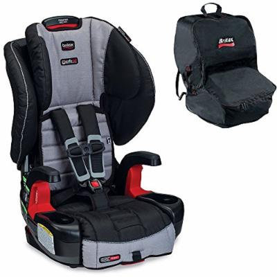 Britax Frontier G1.1 ClickTight Harness-2-Booster Car Seat w Car Seat Travel Bag, Black (Metro)