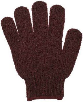Bath Accessories Bathing Gloves Burgundy