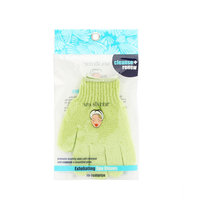 SPA ACCESSORIES EXFOLIATING BATHING GLOVES - CELERY for UNISEX