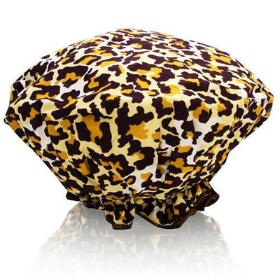 Spa Sister Bouffant Shower Cap Leopard Print