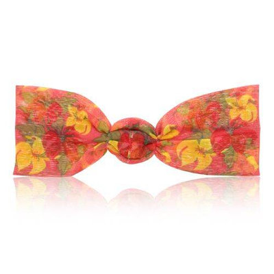 Spa Sister Georgette Hairband Red Yellow Flowers