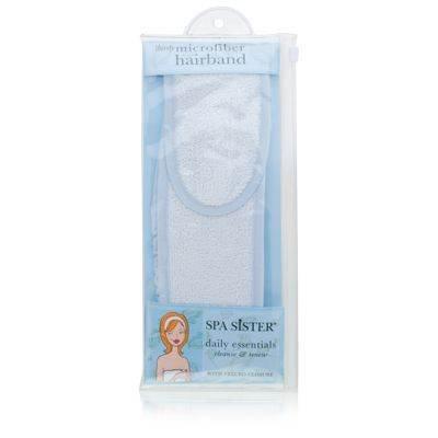 Spa Sister Thirsty Microfiber Hairband BlueWhite
