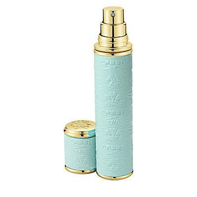 Creed Refillable Leather & Goldtone Trim Pocket Atomizer/Turquoise - No Color