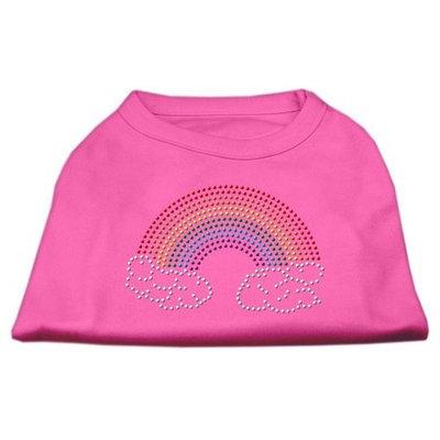 Mirage Pet Products 5268 XLBPK Rhinestone Rainbow Shirts Bright Pink XL 16
