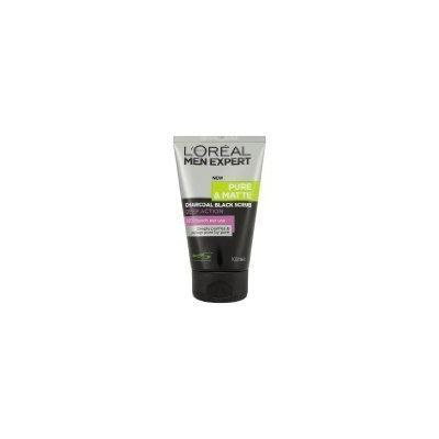 L'Oreal Paris Men Expert Pure & Matte Charcoal Black Scrub Deep Action Facial Foam 100ml
