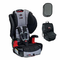 Britax Frontier G1.1 Clicktight Harness-2-Booster Car Seat w Car Seat Travel Bag & 2ct EZ-Cling Sun Shades (Metro)