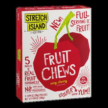 Stretch Island Fruit Chews Pouches Very Cherry - 5 PK