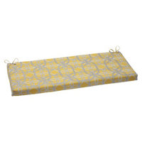 Pillow Perfect Outdoor Bench Cushion - Yellow/Gray Keene