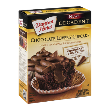 Duncan Hines Chocolate Lover's Cupcake Devil's Food Cake & Frosting Mix