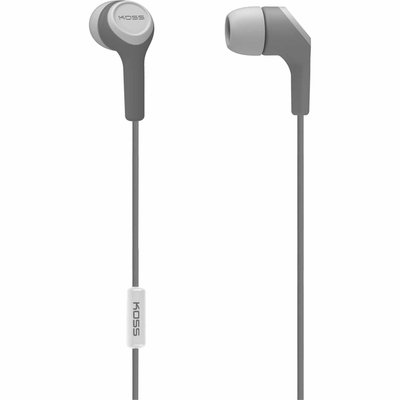 Koss Keb15i In-ear Headphones - Stereo - Gray - Mini-phone - Wired - 16 Ohm - 18 Hz - 20 Khz - Earbud - Binaural - In-ear - 4 Ft Cable (keb15ig)